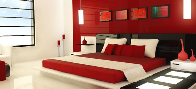 Kleurenpsychologie - Grijze en rode muur ...