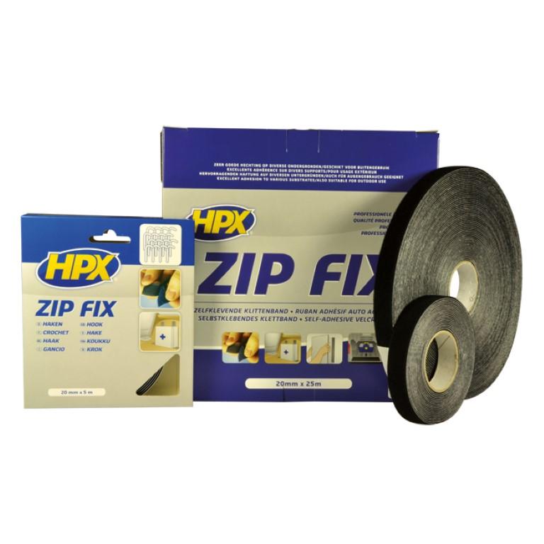 HPX Zip Fix Klittenband Zelfklevend 20mm Haak En Lus