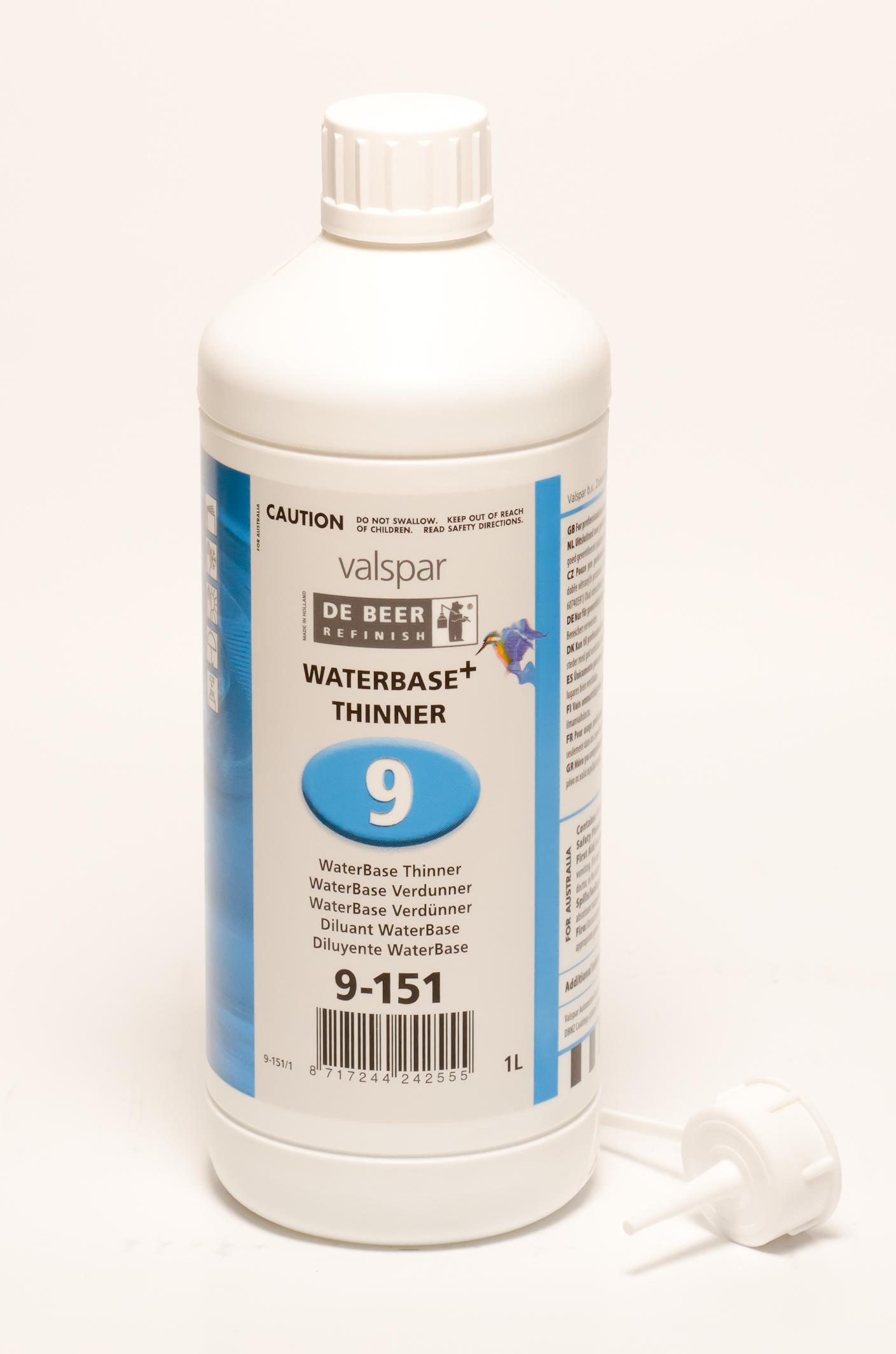 De Beer Waterbase Verdunner 9-151 1 Liter