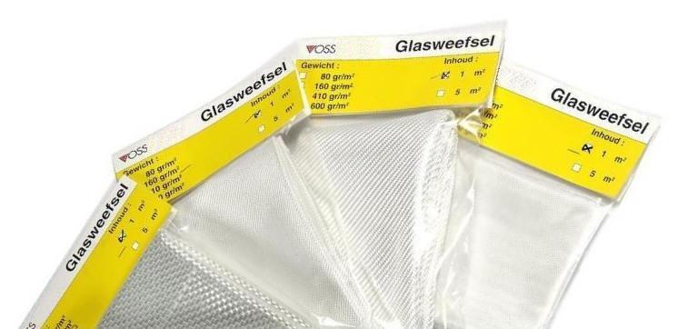 1 M2  Glasweefsel 600gr (Keperweefsel)
