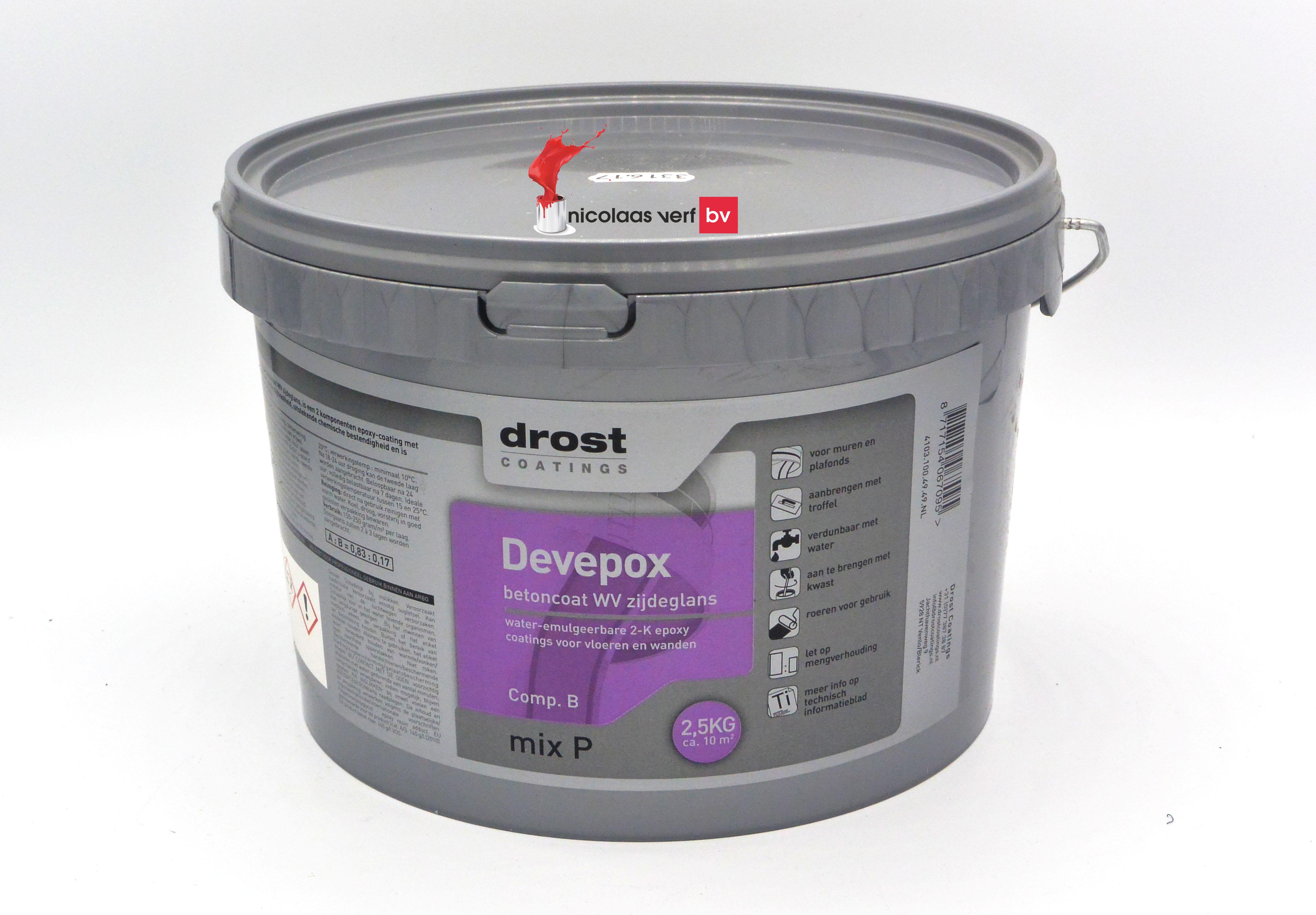 Drost Devepox 2K Betoncoat WV Zijdeglans