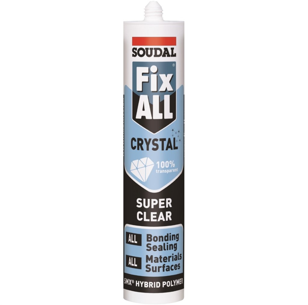 290ml Soudal Fix All Crystal 100% Transparant