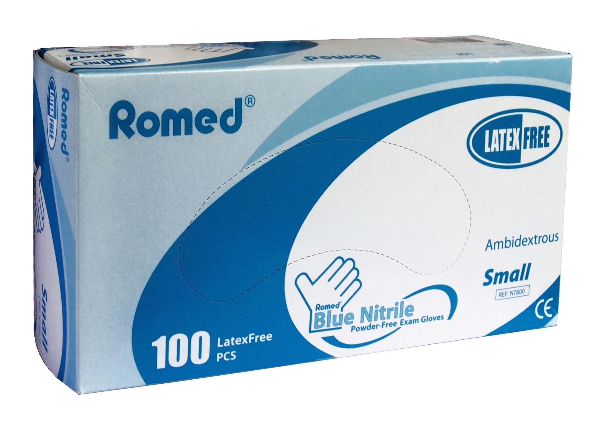 Romed Latex Handschoenen Nitril NT800  100 Stuks