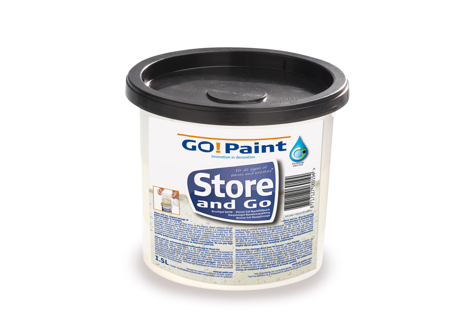 Go Paint Store And Go Gel Navulling 1.5 Liter