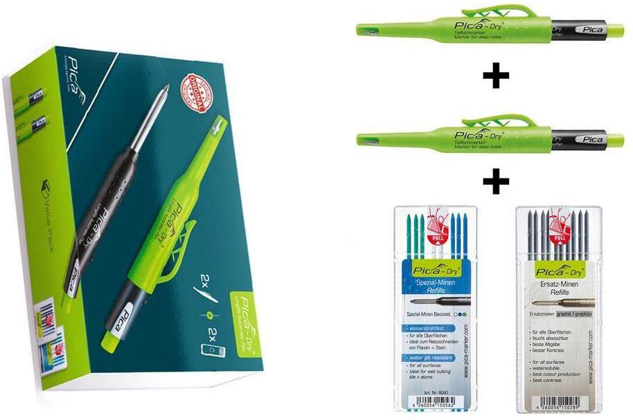Lyra Pica-Dry Markers + 2 Gratis Navulling 2 Stuks