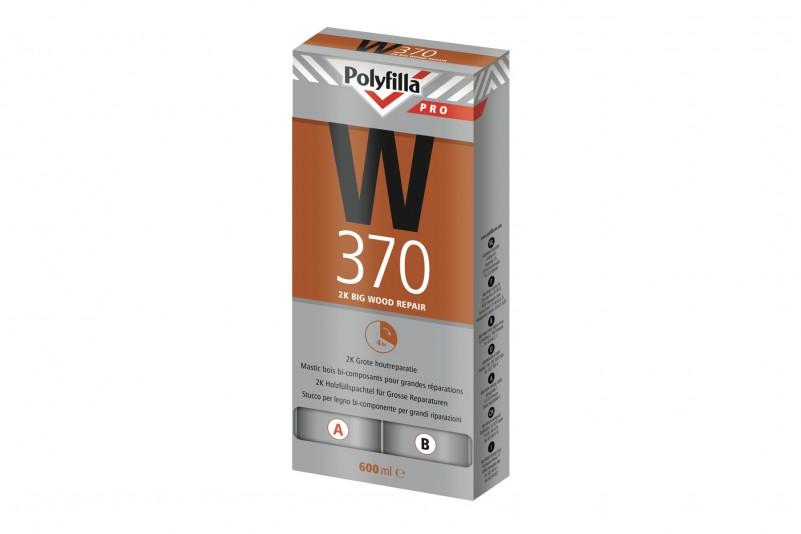 Polyfilla Pro 2K Grote Houtreparatiepasta W370 Set 600ml