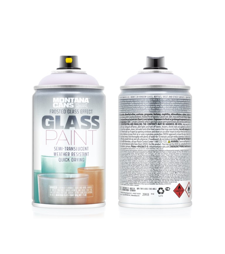 Montana Glass Paint Frosted Glass Effect