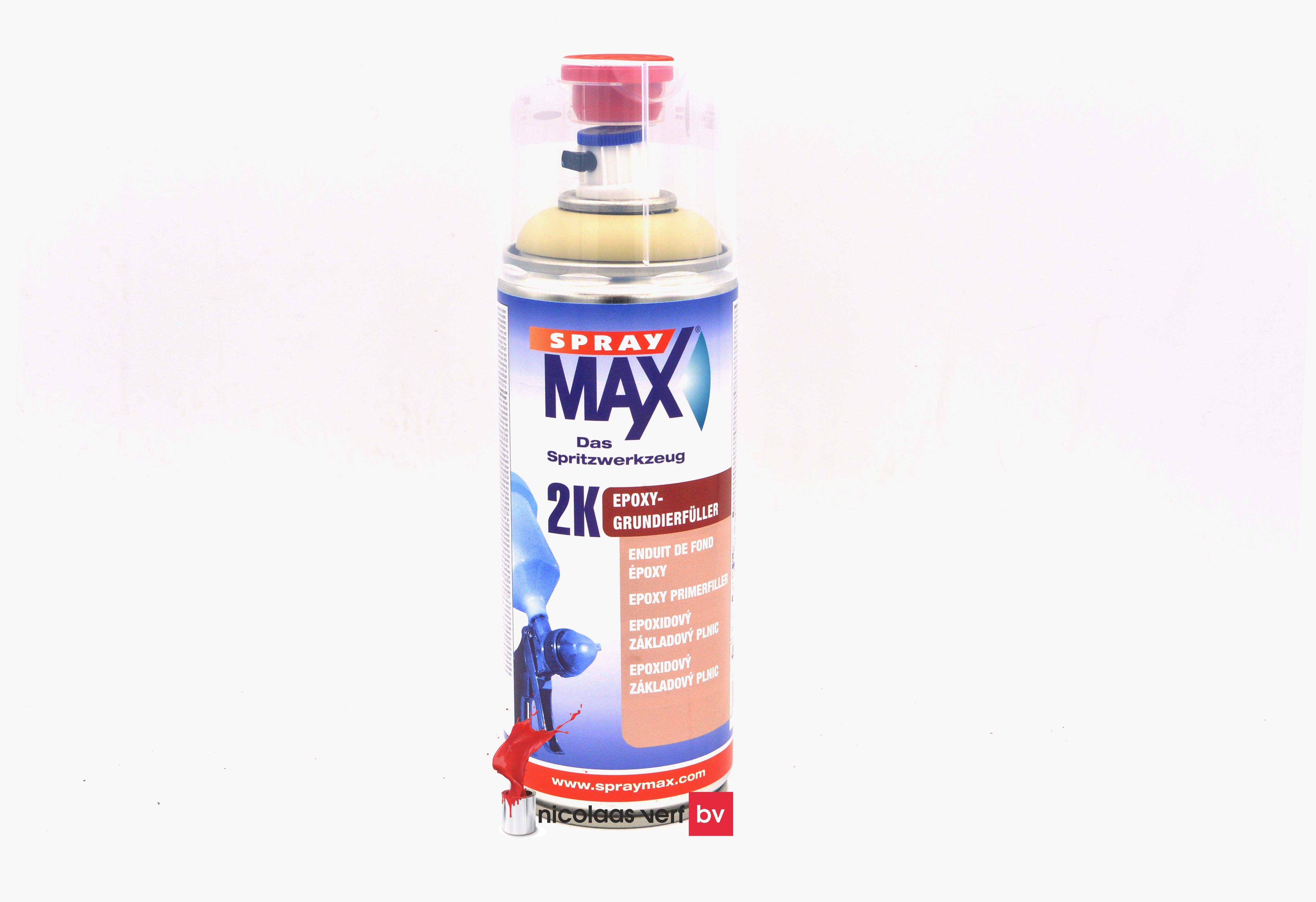 Spray MAX 2K Epoxy Primer Filler Beige Spuitbus 400 Ml