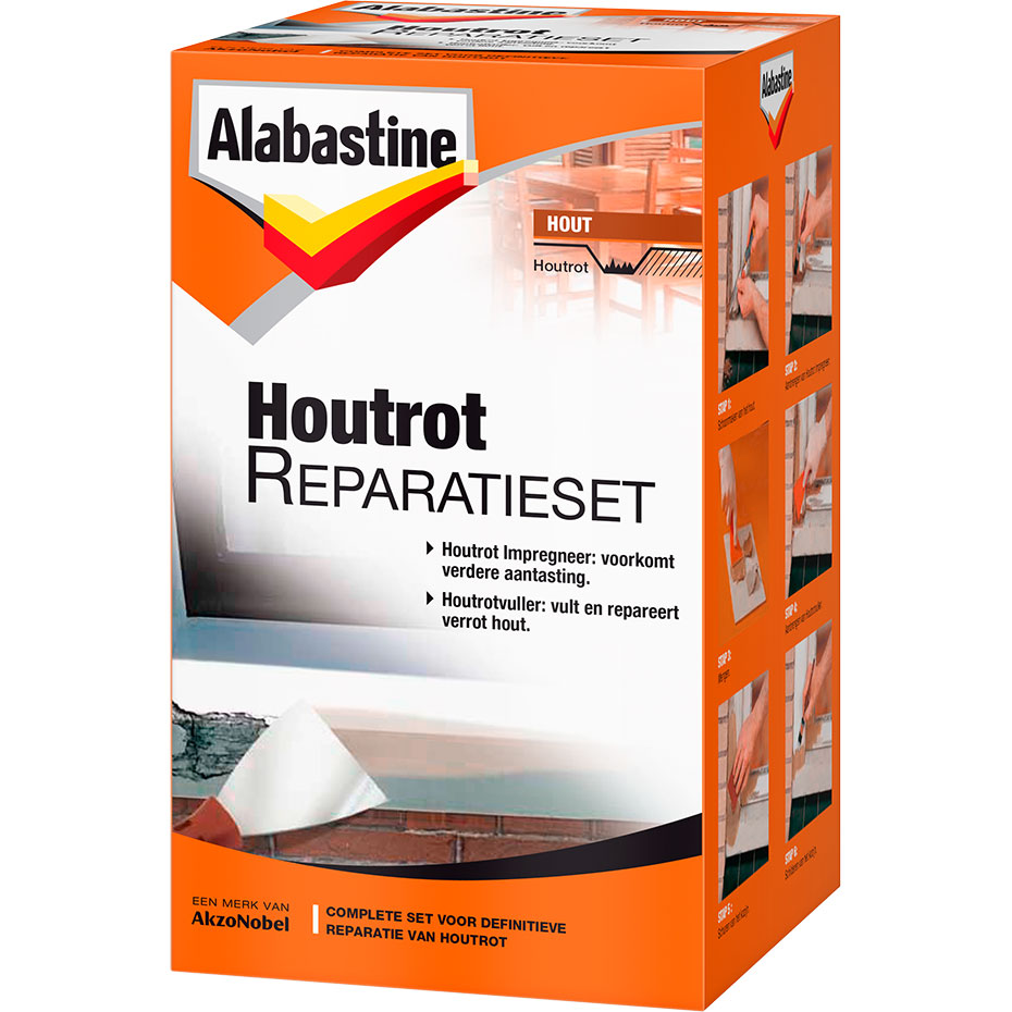 Alabastine Houtrotvuller Set Alles In 1