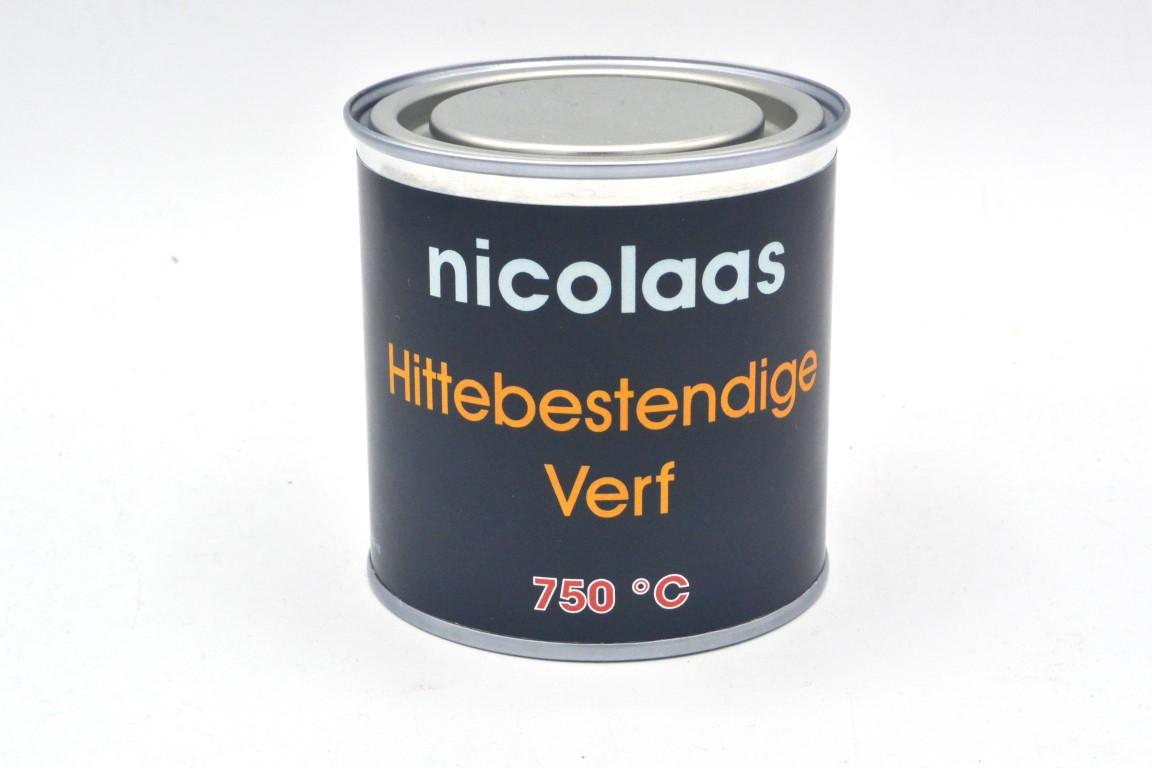 Nicolaas Hittebestendige Verf Zwart 250 Ml
